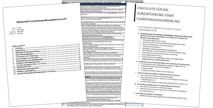 Vorlagen und Checklisten